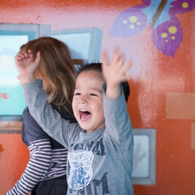 We use:    interactive games that make toddlers move, play and learn stimulation of multiple senses co-op play mechanisms unsupervised play, no teachers or parents needed live and online tracking of learning activities